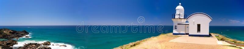 Befestigung von Punkt-Leuchtturm-Australien-Panorama lizenzfreies stockbild
