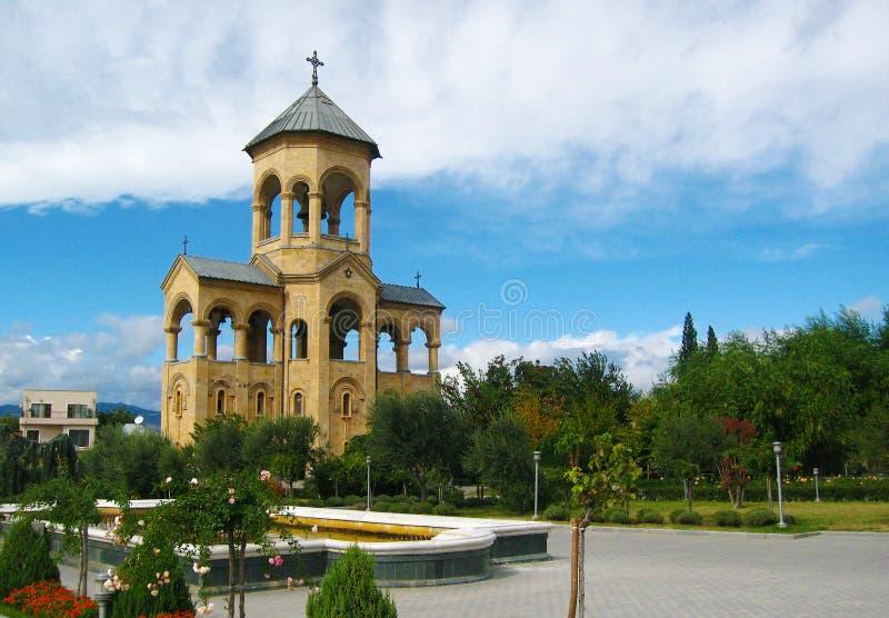 Beffroi de cathédrale de trinité sainte de Sameba, Tbilisi images libres de droits