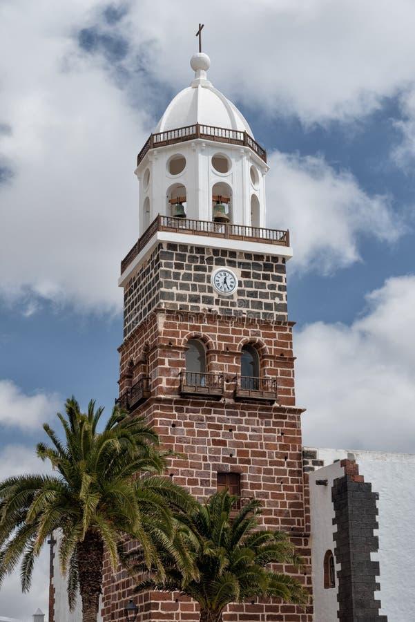 Beffroi Lanzarote Teguise de San Miguel Church photos stock