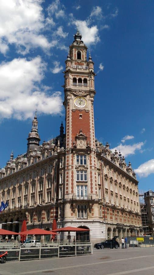Beffroy i Lille royaltyfri fotografi