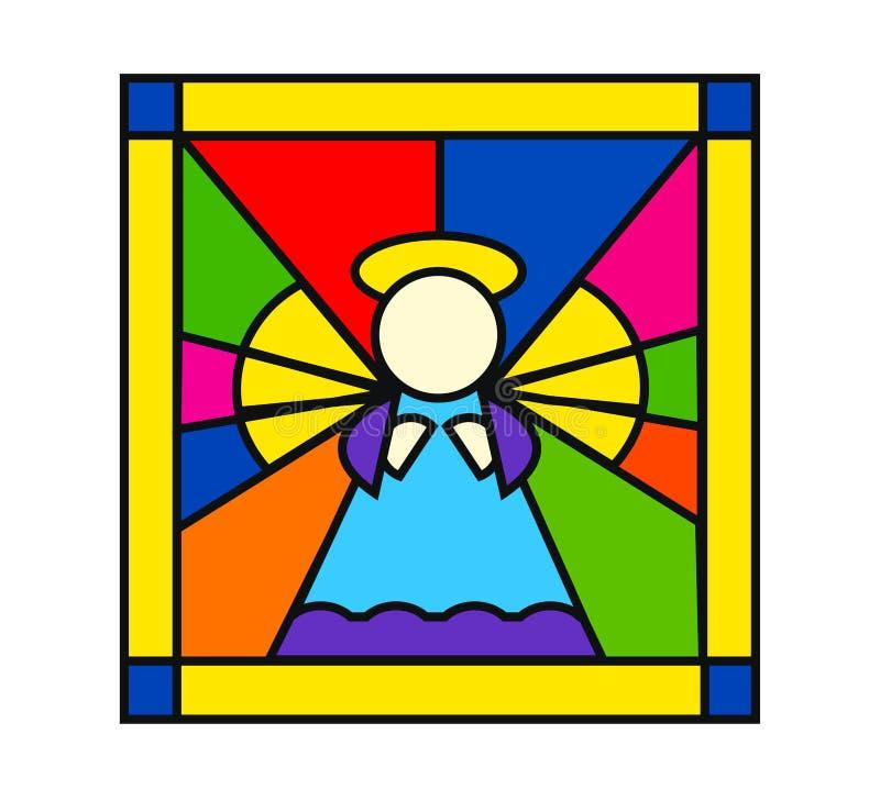 befläckt ängelexponeringsglas royaltyfri illustrationer