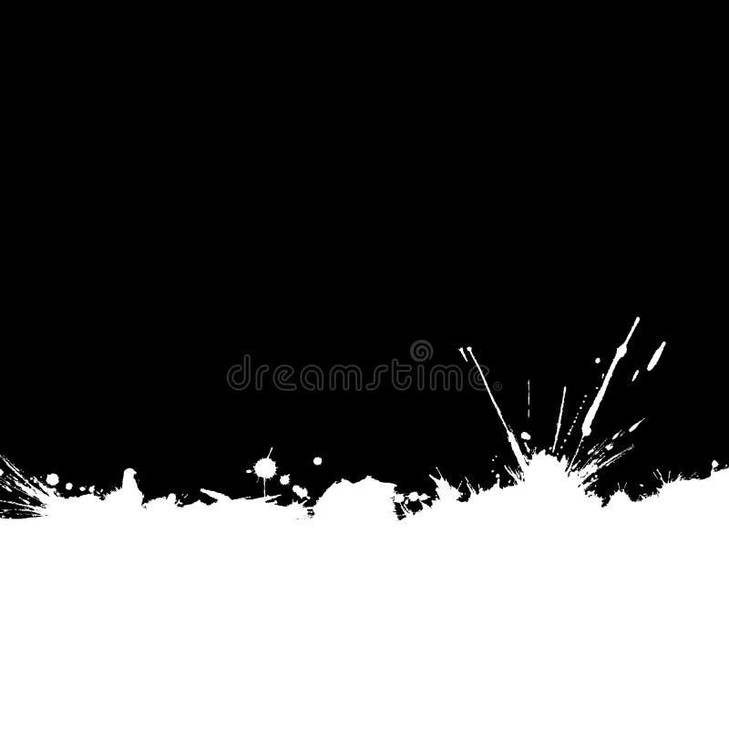 befläckt bakgrundskantfärgpulver som isoleras royaltyfri illustrationer