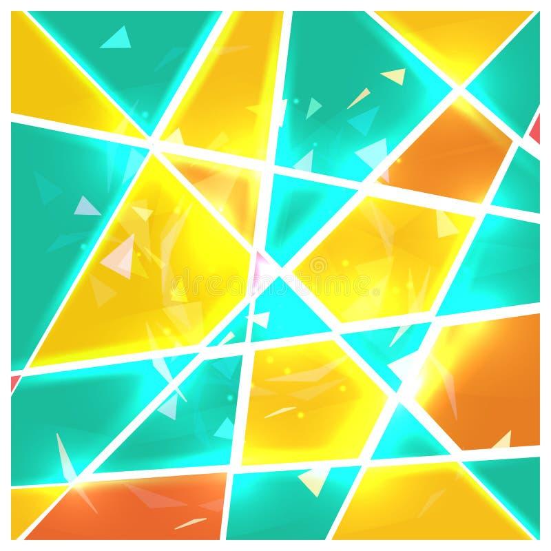 befläckt exponeringsglas vektor illustrationer