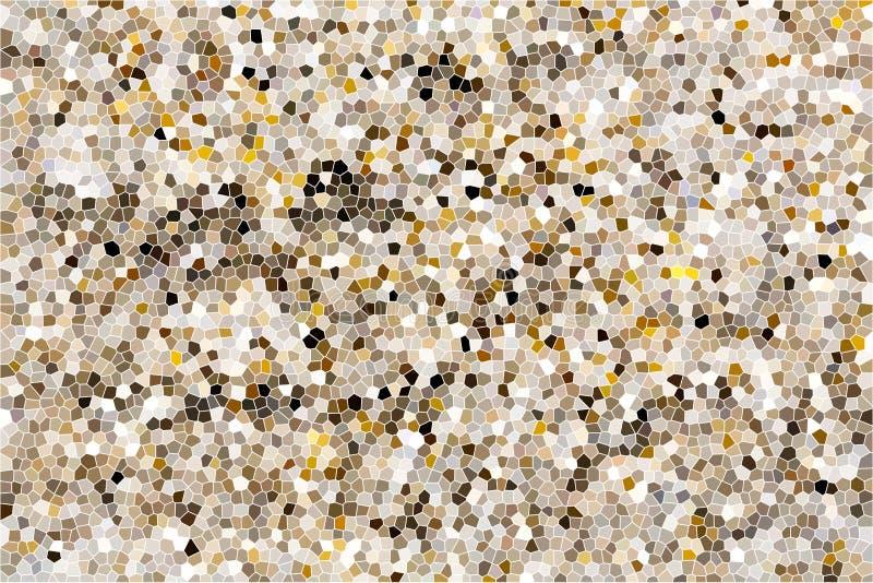 befläckt exponeringsglas Mosaisk färgrik dekorativ bakgrund illustrati stock illustrationer