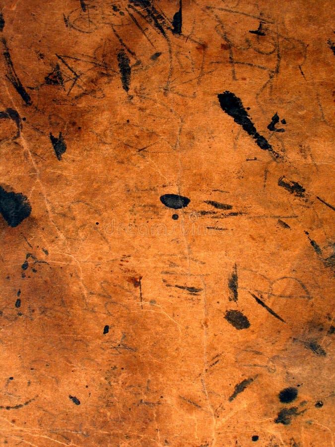 befläckt färgpulverpapper arkivfoto