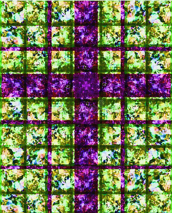 befläckt glass purple för kors royaltyfri illustrationer