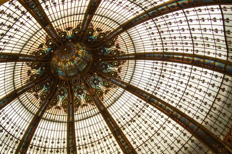 befläckt kupolexponeringsglas arkivfoto