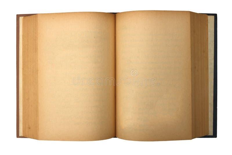 befläckte gammala sidor för blank bok yellow royaltyfria bilder