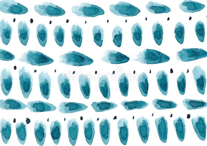 Befläckte utdragen bakgrund för handen med colorfullvattenfärgen vektor illustrationer