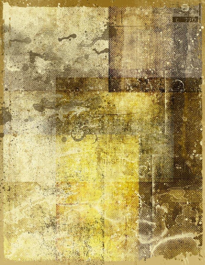 Beflecktes altes Papier stock abbildung
