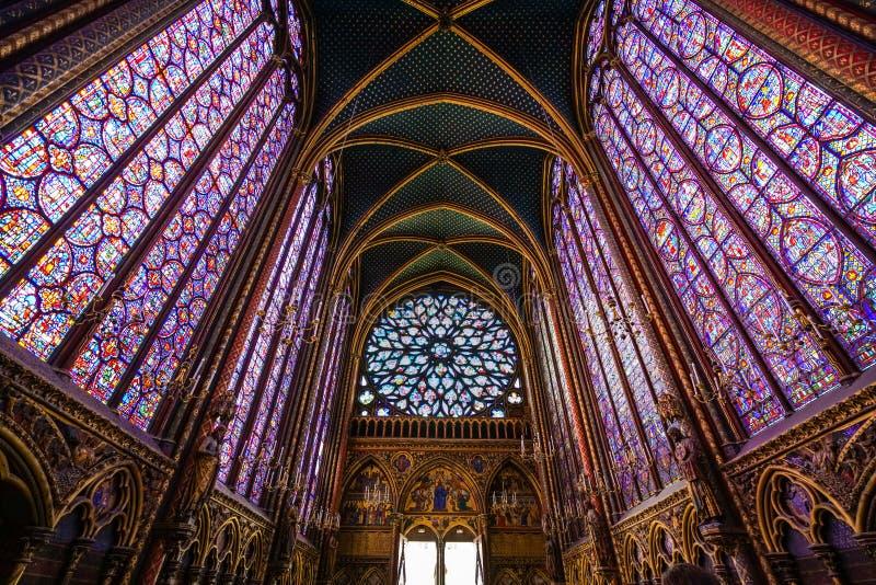 Beflecktes Fensterglas des Heiligen Chapelle lizenzfreie stockbilder