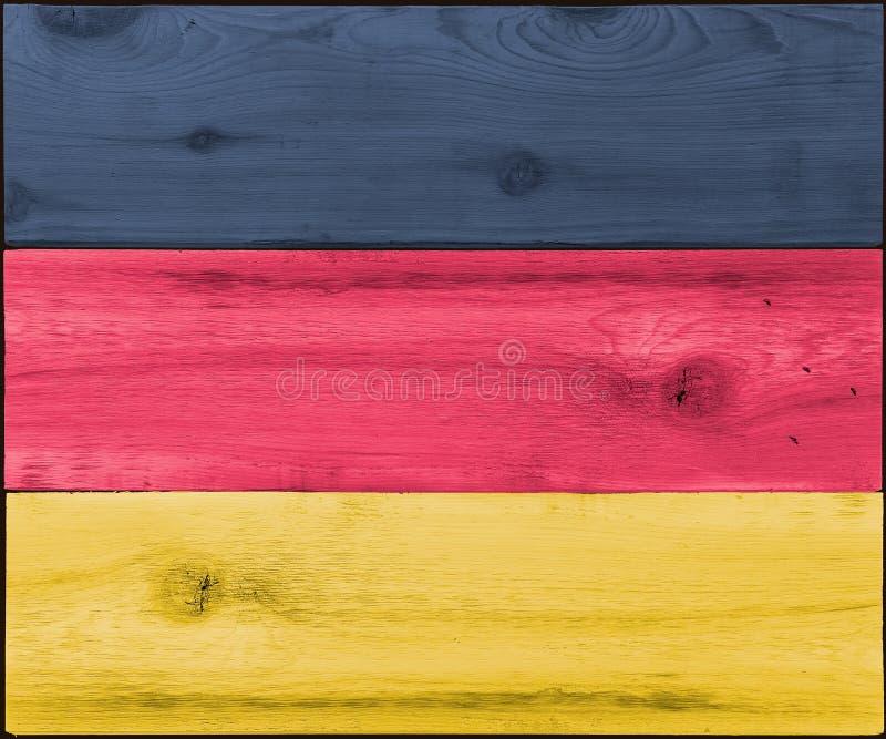 Beflecktes Holz für deutsche Flagge lizenzfreie stockbilder