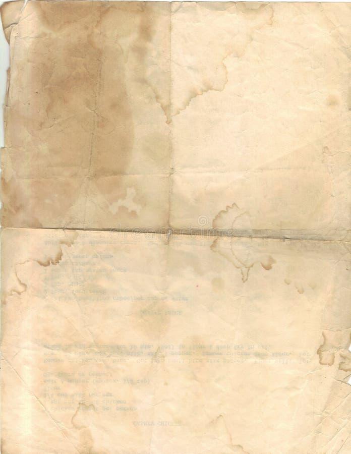 Beflecktes Papier lizenzfreie stockbilder