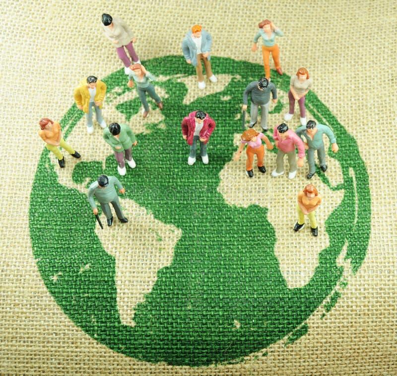 befolkningvärld arkivfoto
