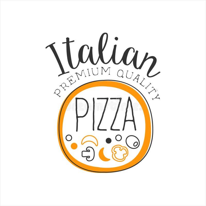 Befordran för menyn för kafét för gatan för snabbmat för pizza för den fulla pizzarundaramen undertecknar den högvärdiga kvalitet vektor illustrationer
