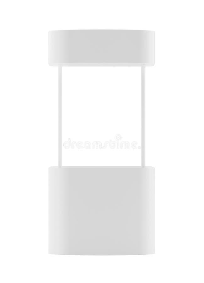Befordranräknare, detaljhandelställning som isoleras på den vita bakgrunden Modellmall för din design framförande 3d arkivfoton