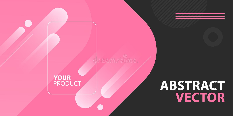 Befordrings- abstrakt bakgrund för online-internetlager, e-kommers, marknadsföring och produktpresentation Annonsbaner stock illustrationer