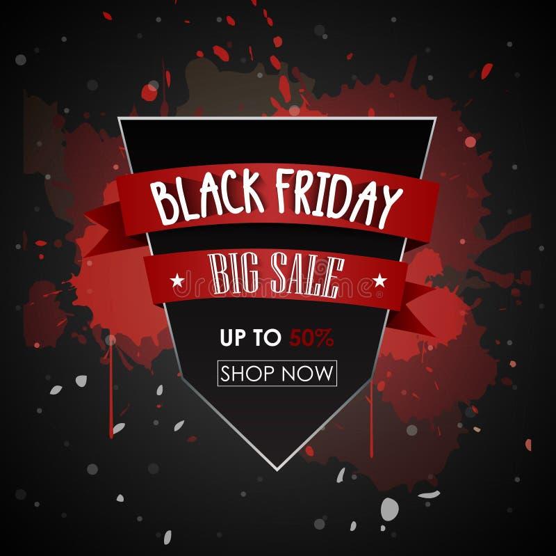 Befordrings- affisch för svart fredag försäljning stock illustrationer