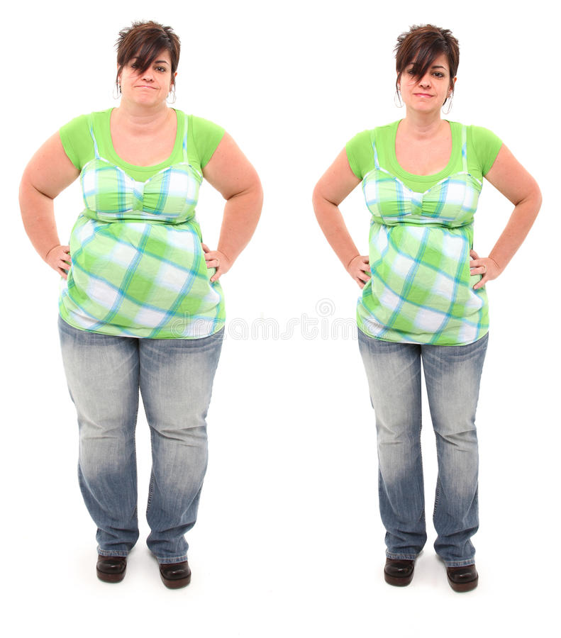 Free Before And After Overweight 45 Year Old Woman Royalty Free Stock Photos - 19810448