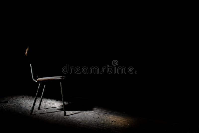 Befragungs-Stuhl stockbild
