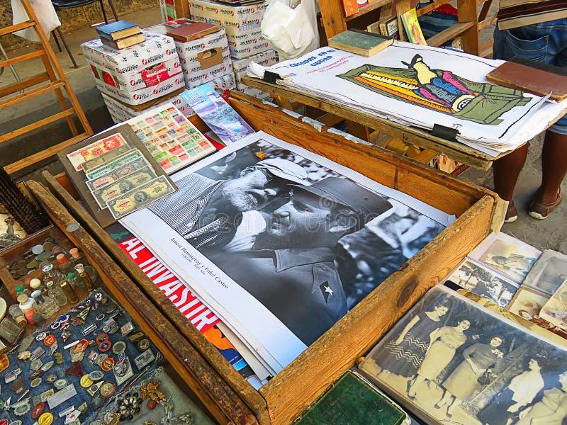 Begagnad marknad i havannacigarr royaltyfria bilder