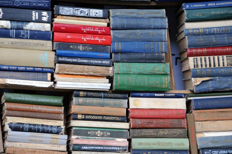 Begagnade böcker royaltyfri foto