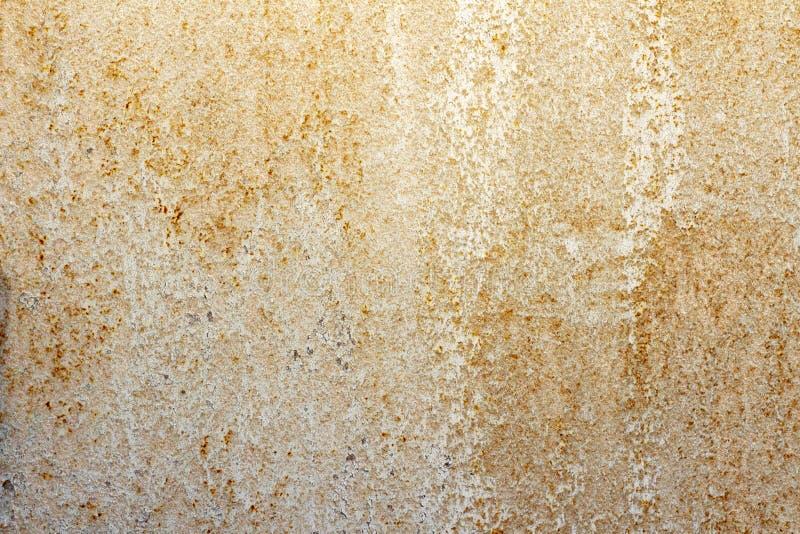 bege pintado velho da oxidação do ferro da textura do fundo foto de stock