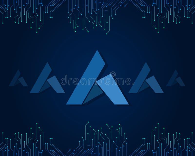 Begeisterung blockchain Art-Hintergrundsammlung vektor abbildung