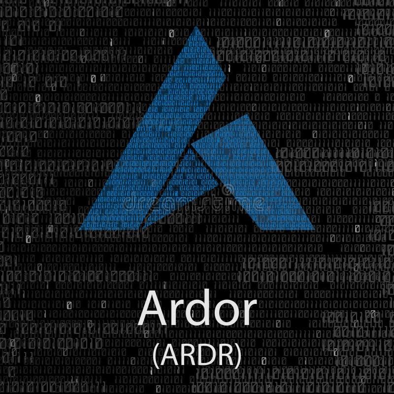 Begeisterung cryptocurrency Hintergrund vektor abbildung