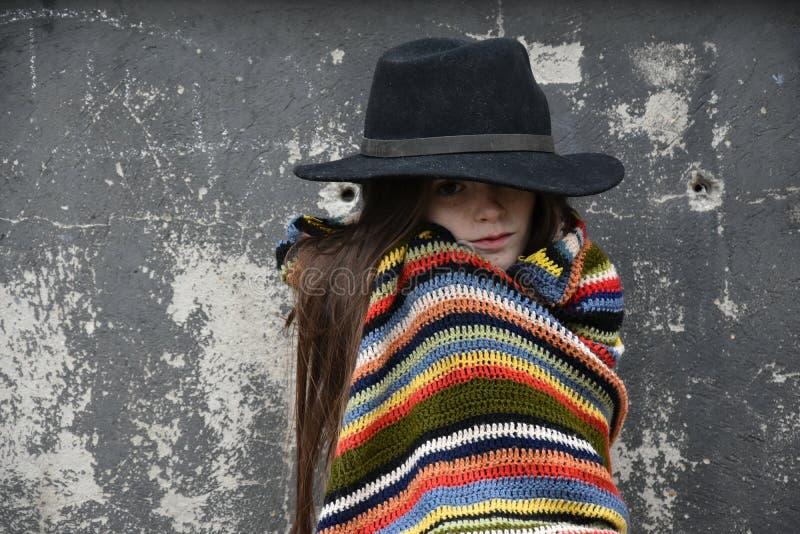 Beggar girl stock photography