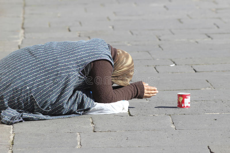 Beggar in Rome royalty free stock images