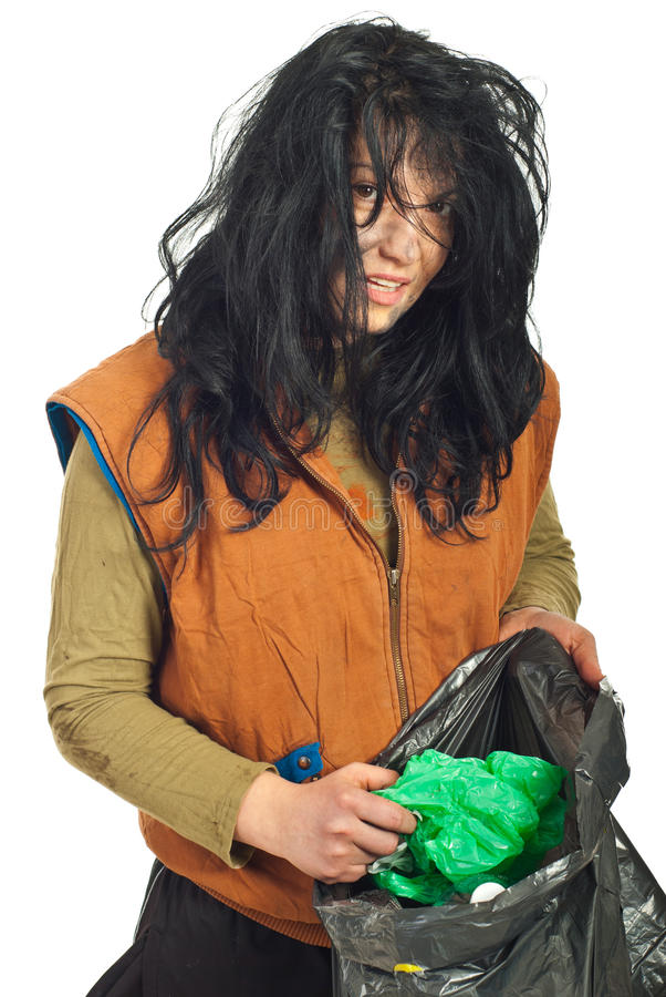 Download Beggar searching garbage stock photo. Image of grimy - 17883882