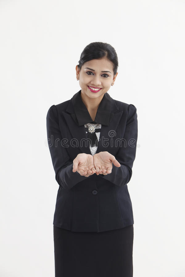 Begging hands. Woman hands begging with outstretched hands. Hands forming a cup royalty free stock photos
