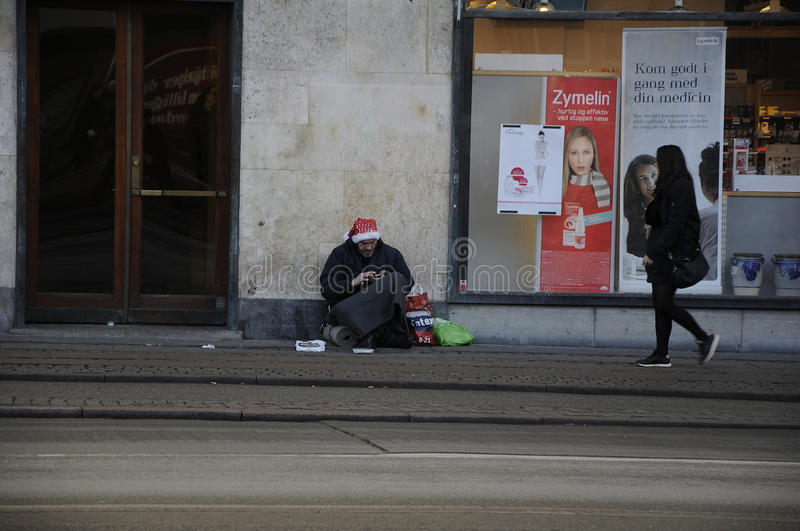 Begging is not allowed in Denmark. Copenhagen / Denmark_ 06th..December 2016 - Begging is not allowed in Denmark , people are seen on streets. Photo. Francis stock photos