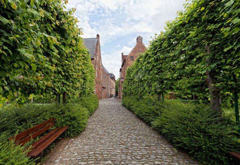 Begijnhof de Louvain photo libre de droits