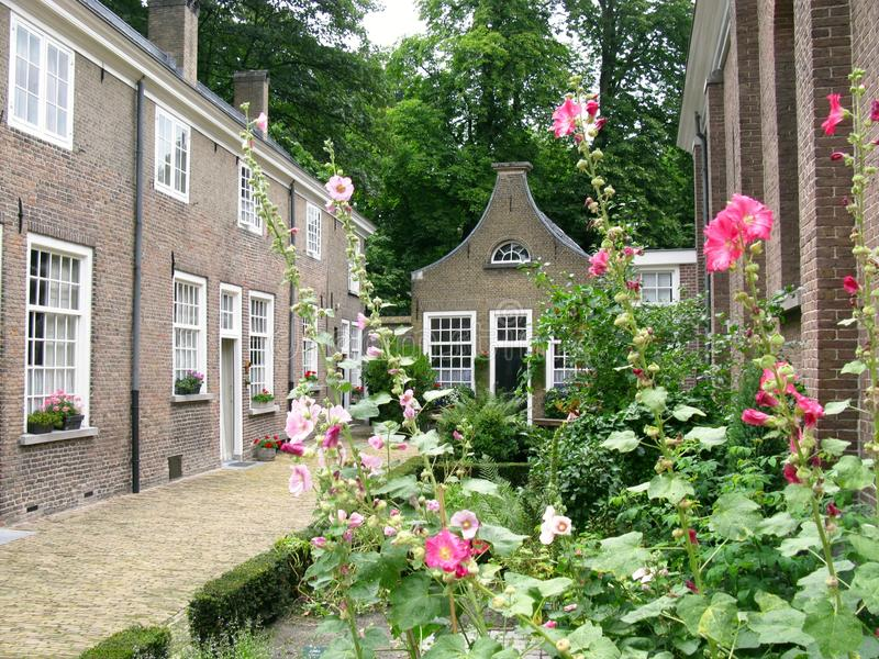 Begijnhof em Breda imagem de stock