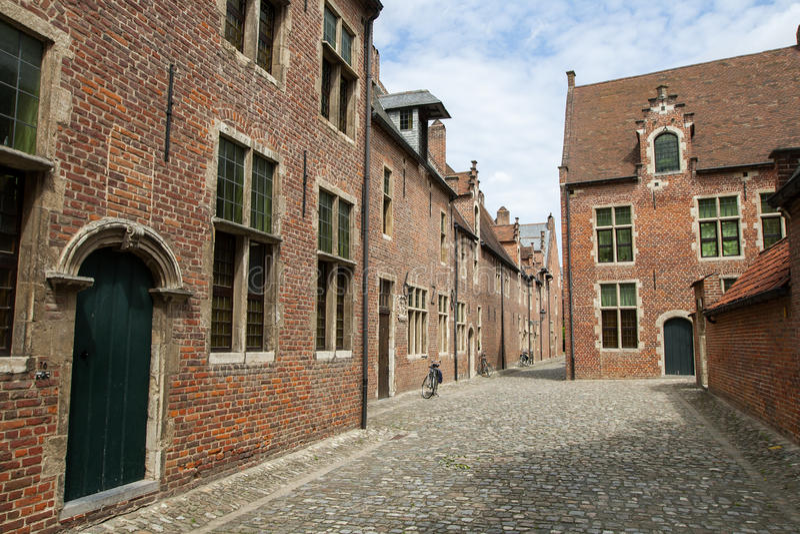 Begijnhof, Lovanio immagine stock libera da diritti