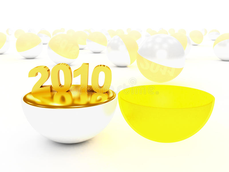 Download Begin of 2010 year stock illustration. Image of figure - 12439369