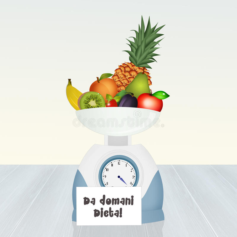 Begin aan dieet royalty-vrije illustratie