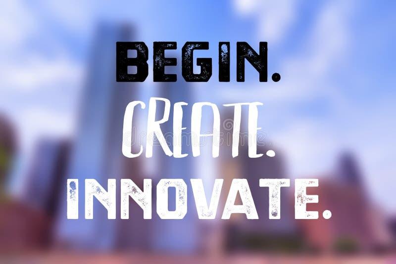 Begin creare innova illustrazione vettoriale