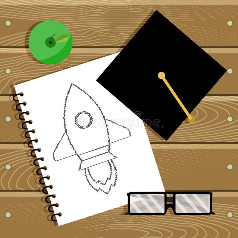 Begin education and start career stock illustration