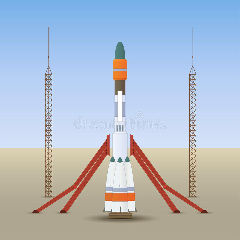 Begin ruimteraket stock afbeelding