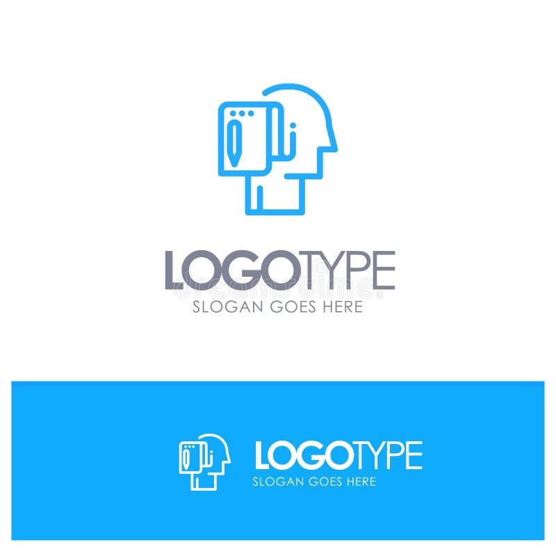 Begin, Start From Scratch, List, Note, Start Blue outLine Logo with place for tagline vector illustration