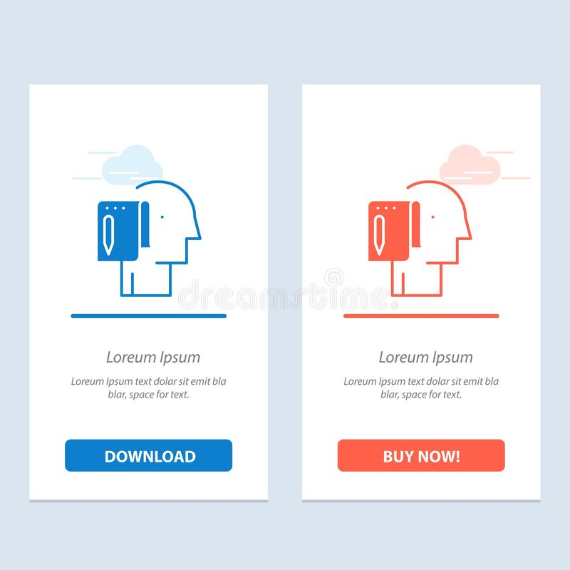Begin, Start From Scratch, List, Note, Start  Blue and Red Download and Buy Now web Widget Card Template vector illustration