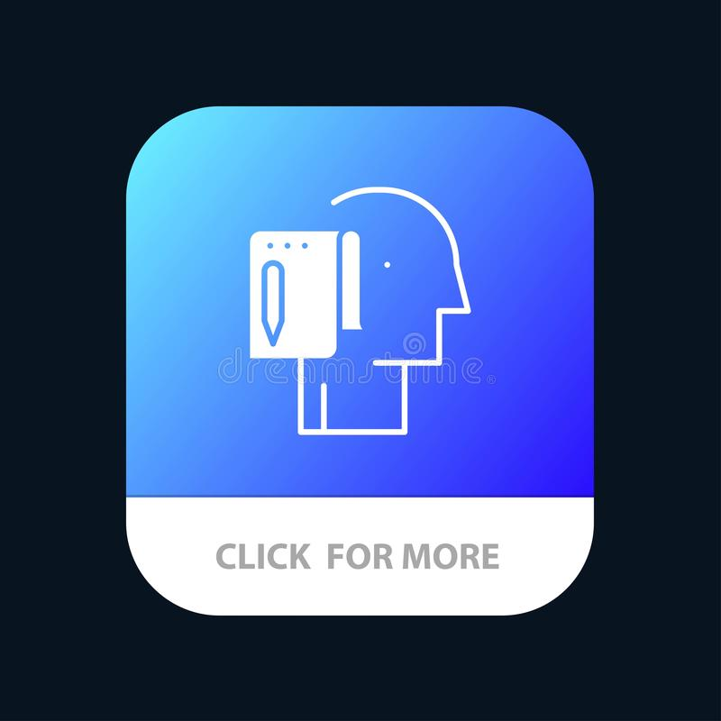 Begin, Start From Scratch, List, Note, Start Mobile App Button. Android and IOS Glyph Version royalty free illustration