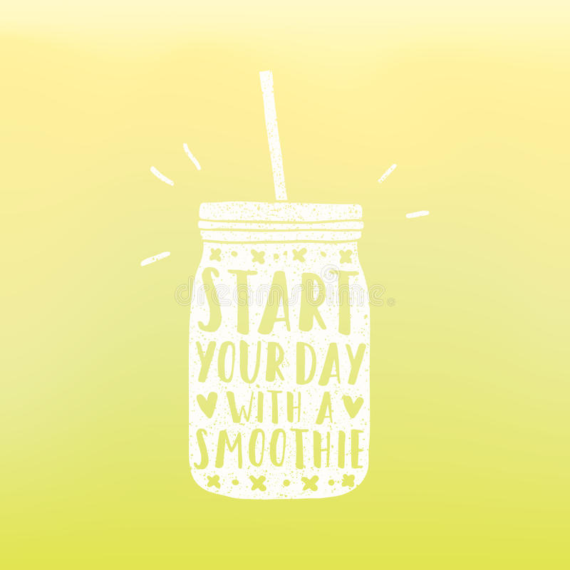 Begin uw dag met een smoothie stock illustratie
