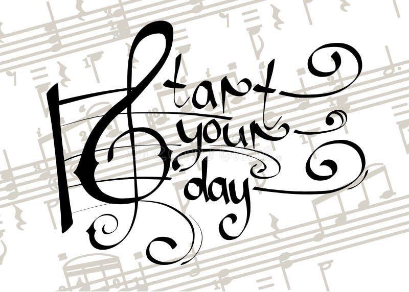 Begin uw dag met muziek stock afbeeldingen