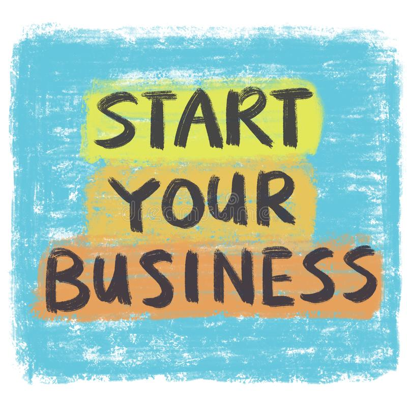 Begin uw zaken vector illustratie