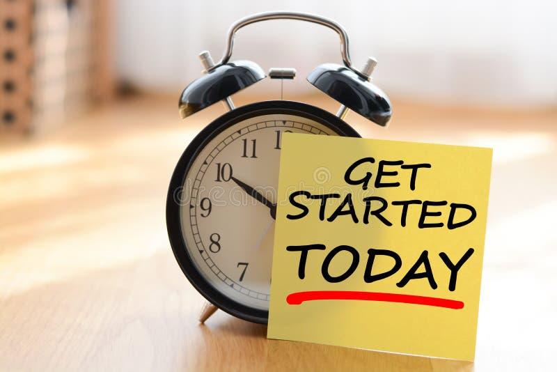 Begin vandaag uw eigen bedrijfsconcept stock foto