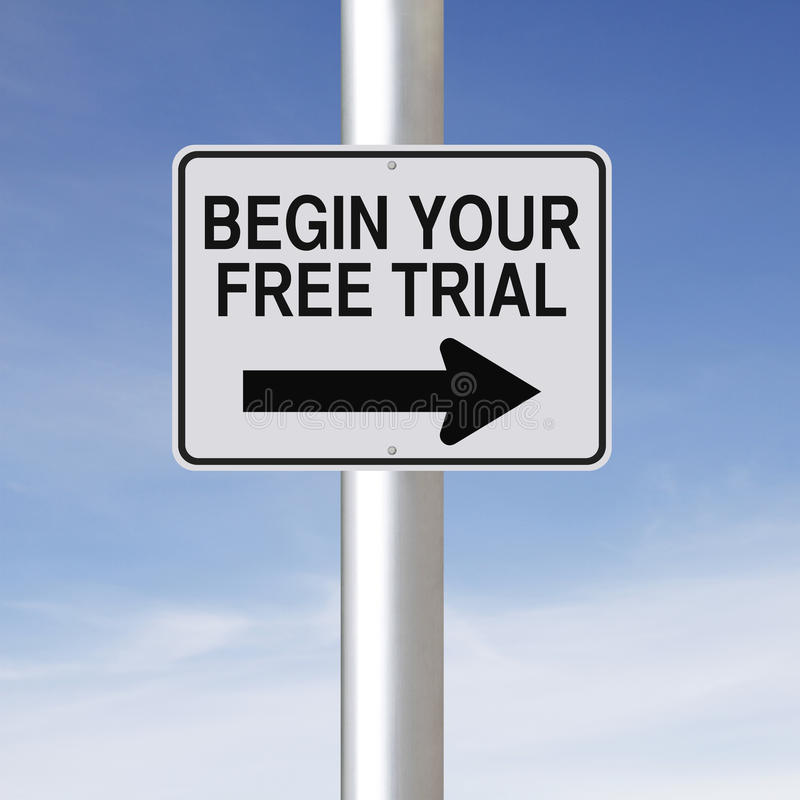 Begin Your Free Trial stock photo